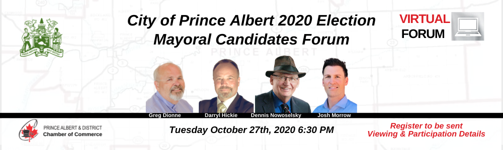 Mayoral Forum 2020 Election Prince Albert, SK